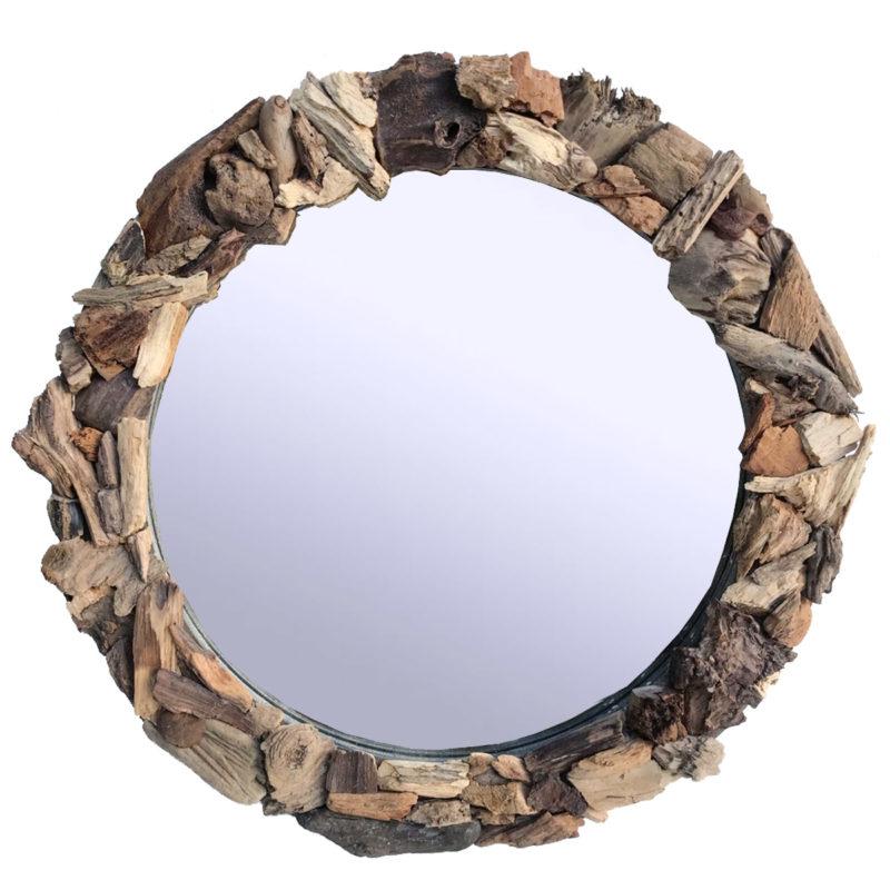 Spiegel Rund aus kleinen Treibholzästen
