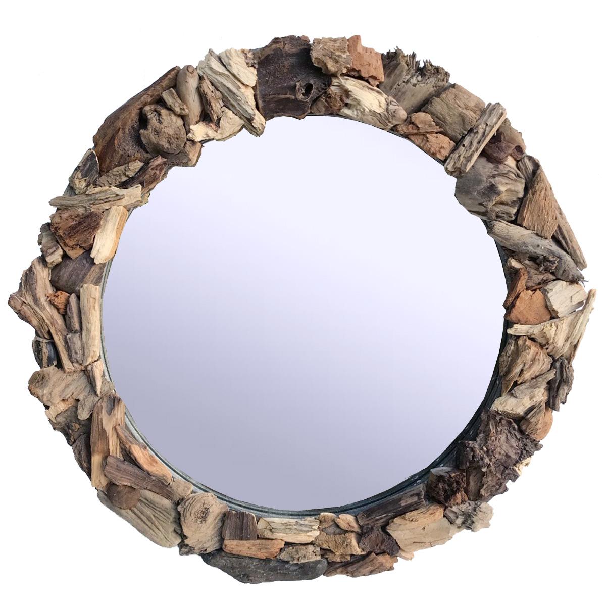 Treibholz Spiegel Rund 35cm Modell P A R S Designobjekte Und