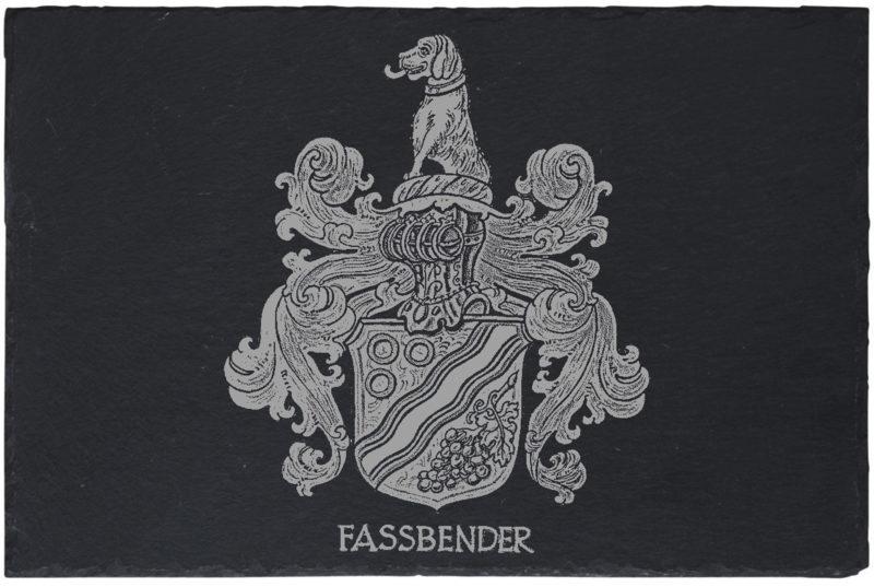 Untersetzer-Schiefer-20x30cm-Familien-Wappen