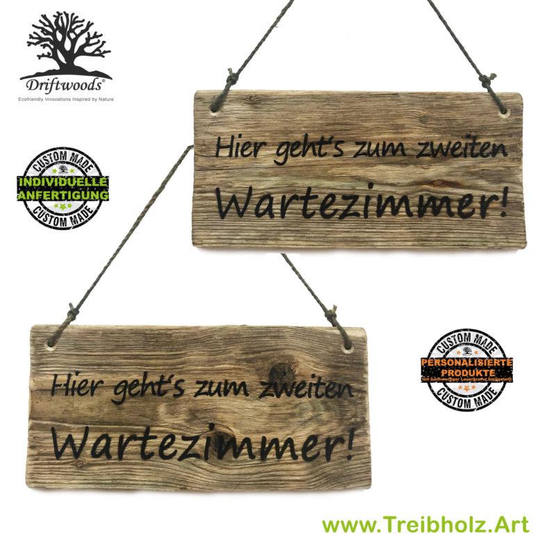 Treibholz-Schild mit Wunschgravur