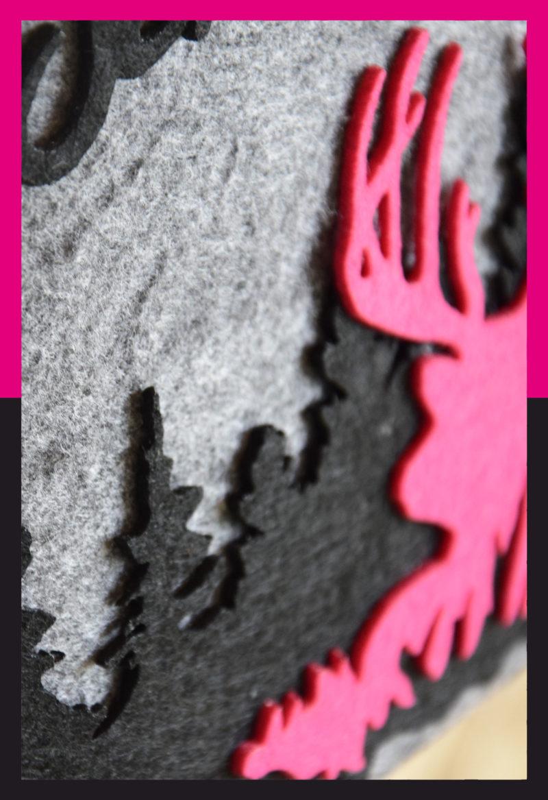 filzshopper-grau-pink-schwarz-motiv-hirsch